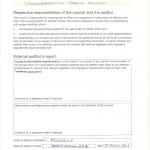 external auditor's certificate